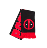 Deadpool - Classic Logo and Big Face Knitted Scarf
