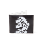 Nintendo - Super Mario Black and White Bifold Wallet