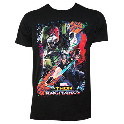 THOR Ragnarok Movie Battle Black Tee Shirt