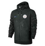 2017-2018 Man City Nike Authentic Windrunner Jacket (Outdoor Green)