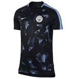 2017-2018 Man City Nike Pre-Match Training Shirt (Black)