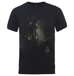 DC Comics Men's Tee: Arrow Hooded Focus