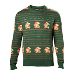 NINTENDO Legend of Zelda Men's Kitted Pixel Link Christmas Sweater, Extra Extra Large, Green