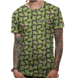 Rick And Morty - Repeat Pattern Sublimated - Unisex T-shirt White
