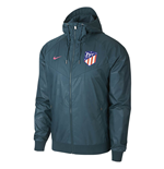 2017-2018 Atletico Madrid Nike Authentic Windrunner Jacket (Space Blue)