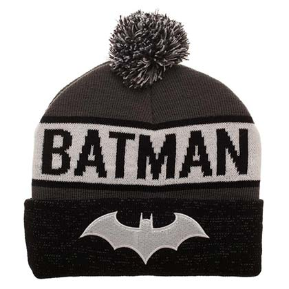 BATMAN Reflective Winter Pom Beanie