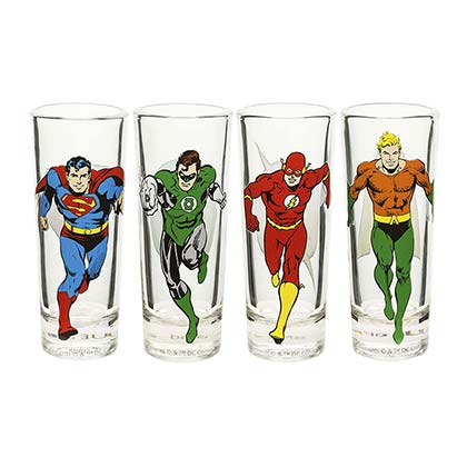 JUSTICE LEAGUE 4 Pack Shot Glasses