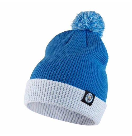 fd6c6808b 2017-2018 Man City Nike Bobble Hat (Blue)
