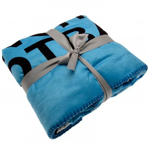 Manchester City F.C. Sherpa Fleece Blanket