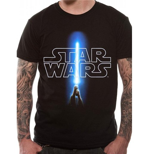 Star Wars T-Shirt Logo & Saber