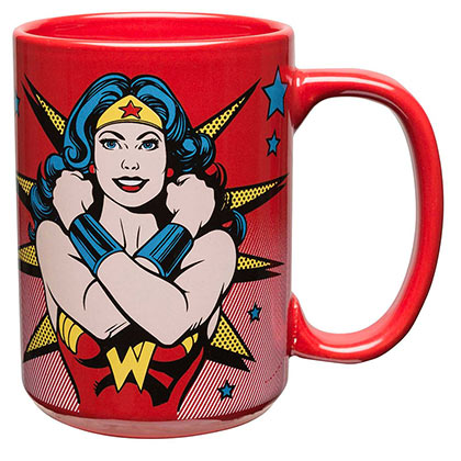 WONDER WOMAN Red Strongest Woman Alive Mug