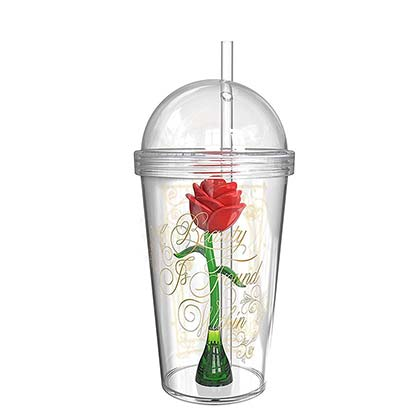 BEAUTY AND THE BEAST Magic Rose Travel Cup