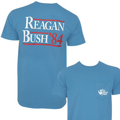Reagan Bush '84 PATRIOTIC Tee Shirt