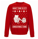 Adventure Time - Christmas Time - Unisex Crewneck Sweatshirt Red