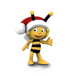 Maya the Bee Figure Maya the Bee with Santa Hat 7 cm