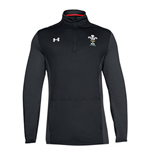 2018-2019 Wales Rugby WRU 1/4 Zip Training Top (Black)