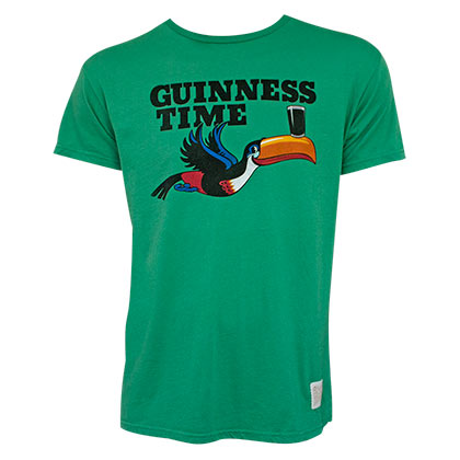 GUINNESS Time Toucan Green Premium Vintage Style Tshirt