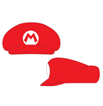 NINTENDO Super Mario Bros. Shaped Cap with Mario Logo, One Size, Red