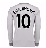 2017-2018 Man United Home Long Sleeve Third Shirt (Ibrahimovic 10)