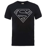 DC Comics Men's Tee: Originals Superman Logo Distressed