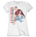 Justin Bieber Ladies Tee: Plaid