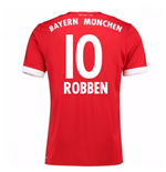 2017-18 Bayern Munich Home Short Sleeve Shirt (Robben 10)