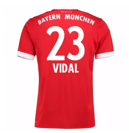 2017-18 Bayern Munich Home Short Sleeve (Kids) (Vidal 23)