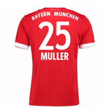 2017-18 Bayern Munich Home Short Sleeve (Kids) (Muller 25)