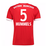 2017-18 Bayern Munich Home Short Sleeve (Kids) (Hummels 5)