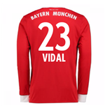 2017-18 Bayern Munich Home Long Sleeve Shirt (Vidal 23)