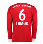 2017-18 Bayern Munich Home Long Sleeve Shirt (Thiago 6)