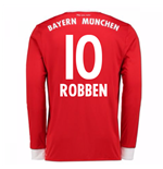 2017-18 Bayern Munich Home Long Sleeve Shirt (Robben 10)