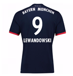 2017-18 Bayern Away Shirt (Lewandowski 9)