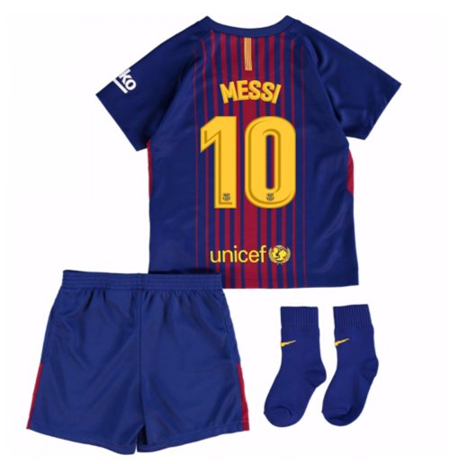 premium selection dffae b4961 2017-18 Barcelona Home Baby Kit (Messi 10)