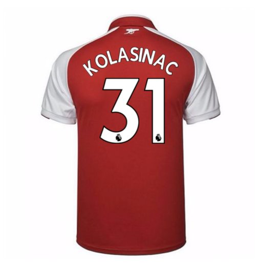 2017-18 Arsenal Home Shirt - Kids (Kolasinac 31)