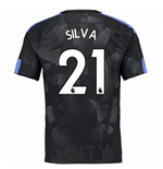 2017-18 Man City Third Shirt (Silva 21)