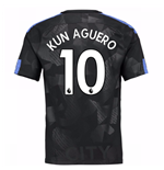2017-18 Man City Third Shirt (Kun Aguero 10)