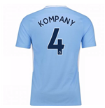 2017-18 Man City Home Shirt (Kompany 4)