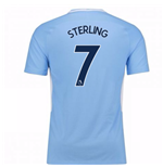 2017-18 Man City Home Shirt - Kids (Sterling 7)