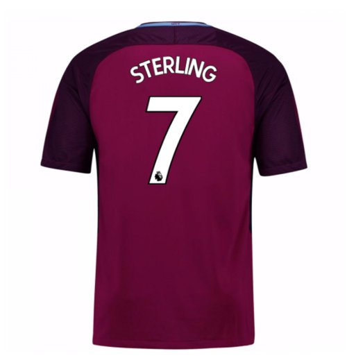 2017-18 Man City Away Shirt (Sterling 7) - Kids