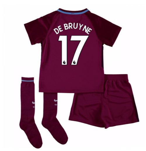 2017-18 Man City Away Mini Kit (De Bruyne 17)