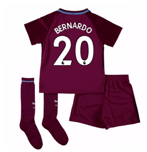2017-18 Man City Away Mini Kit (Bernardo 20)