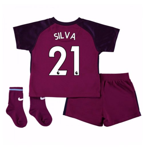2017-18 Man City Away Baby Kit (Silva 21)