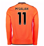 2017-18 Liverpool Long Sleeve Third Shirt (M Salah 11)