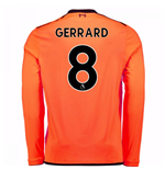 2017-18 Liverpool Long Sleeve Third Shirt (Gerrard 8) - Kids