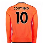 2017-18 Liverpool Long Sleeve Third Shirt (Coutinho 10) - Kids