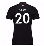 2017-18 West Ham Away Shirt (Ayew 20)
