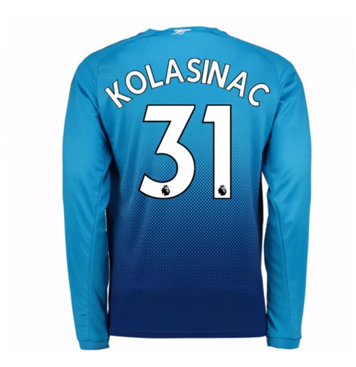 2017-2018 Arsenal Away Long Sleeve Shirt (Kolasinac 31)
