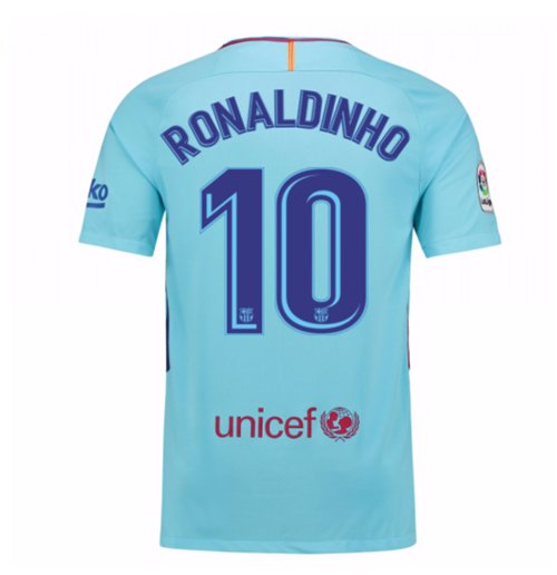 2017-2018 Barcelona Away Shirt (Ronaldinho 10)