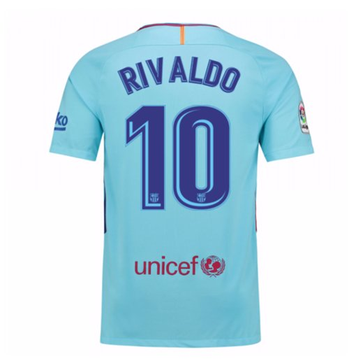 2017-2018 Barcelona Away Shirt (Rivaldo 10)